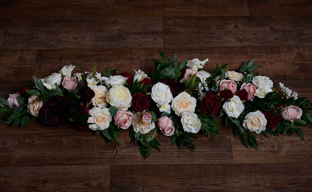 Top table flower garland
