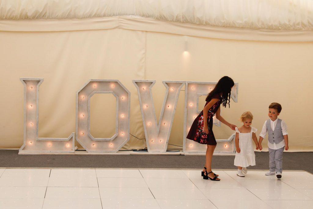 4ft White LED love letter hire