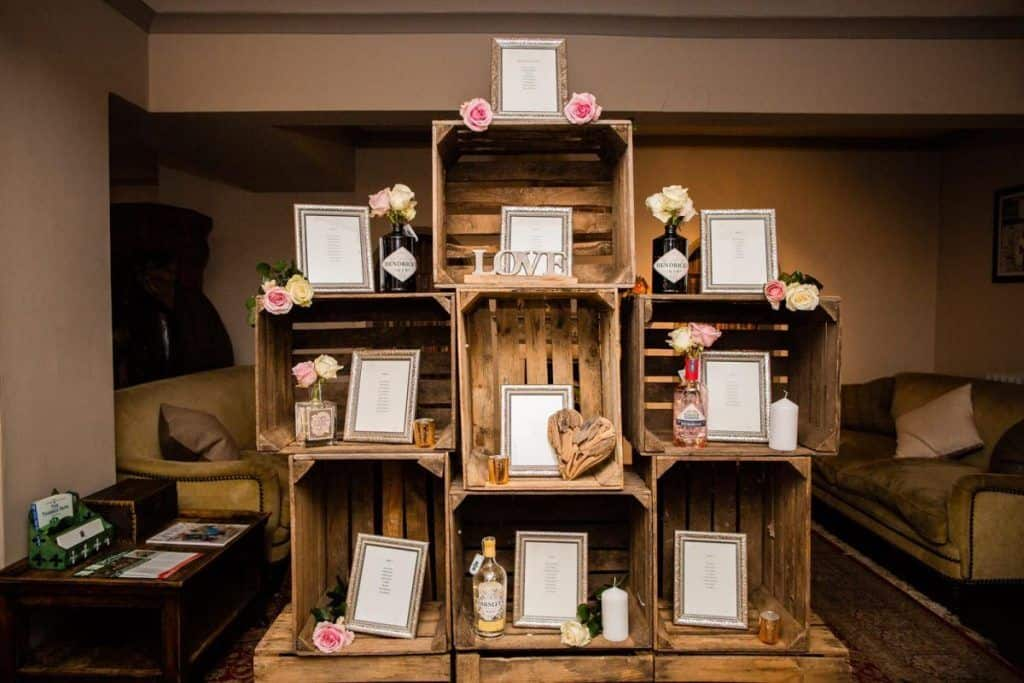 Rustic crate table plan