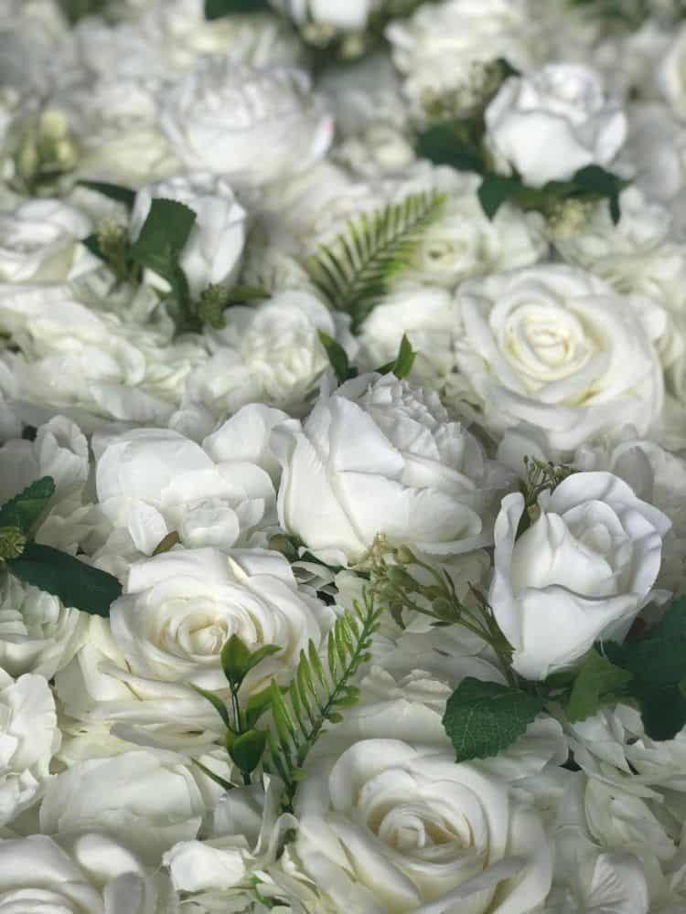 luxury white flower wall
