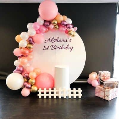 Circle balloon backdrop