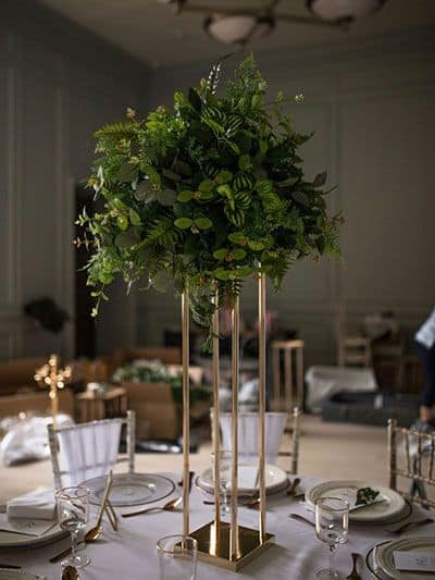 Foliage wedding centrepiece