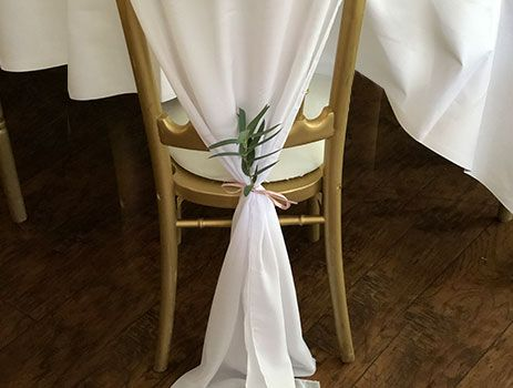Wedding chair sash