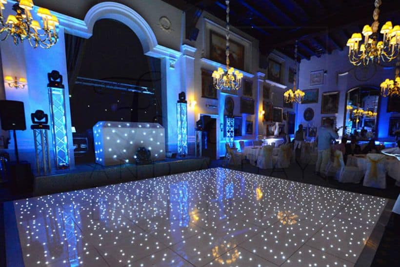 White LED dance floor hire