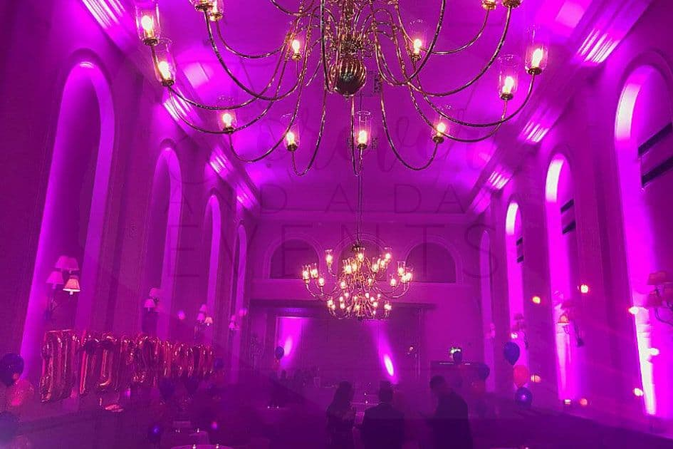 event room uplighters