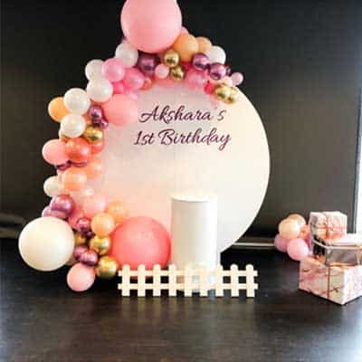 Circle balloon backdrop hire