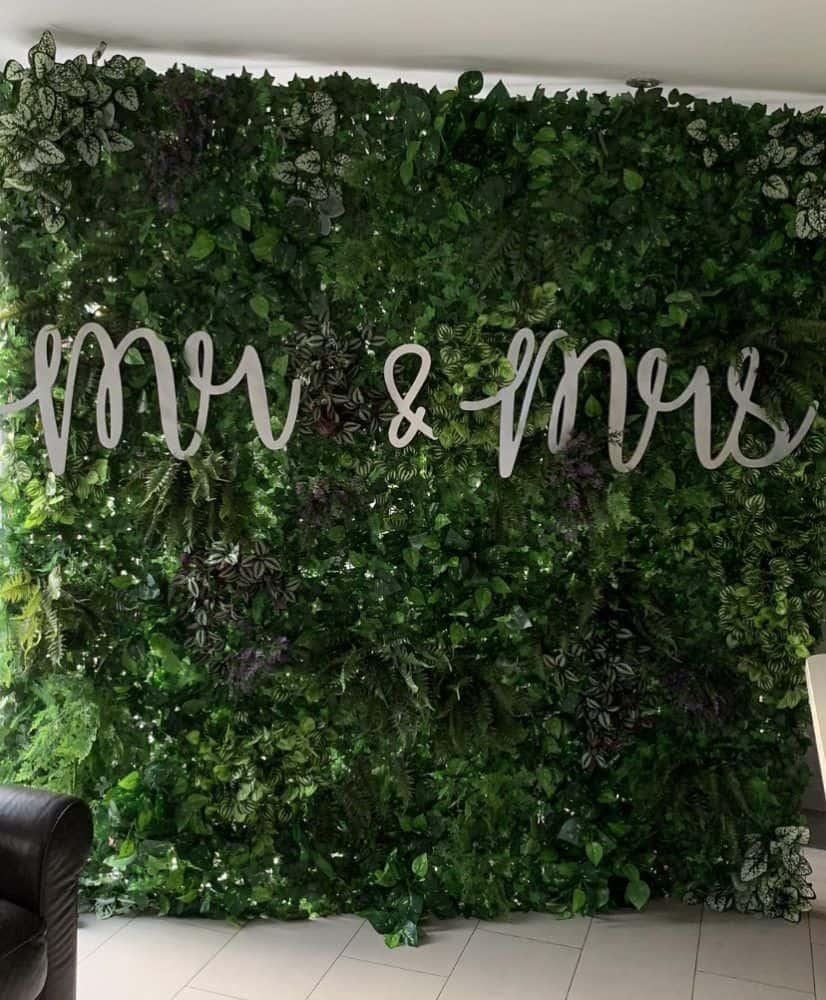 Luxury foliage wall hire