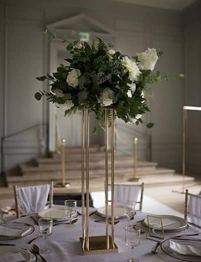 Foliage bouquet wedding centrepiece
