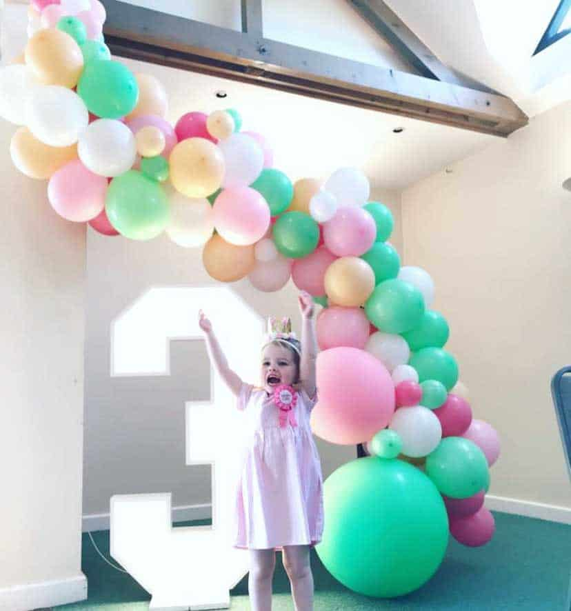 Large balloon garland hire