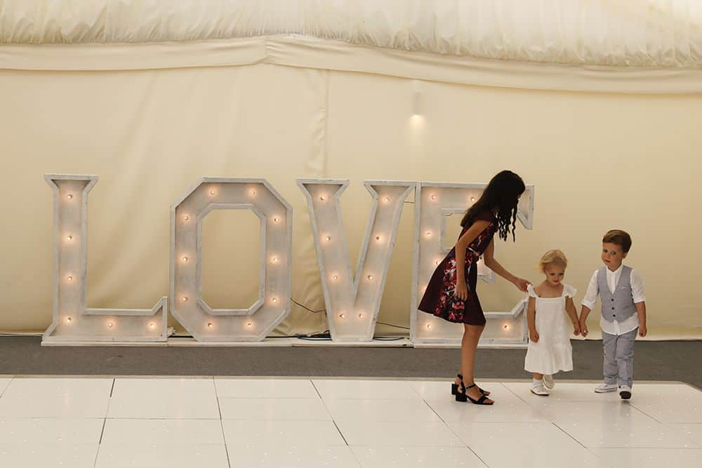Large white LED light up love letters