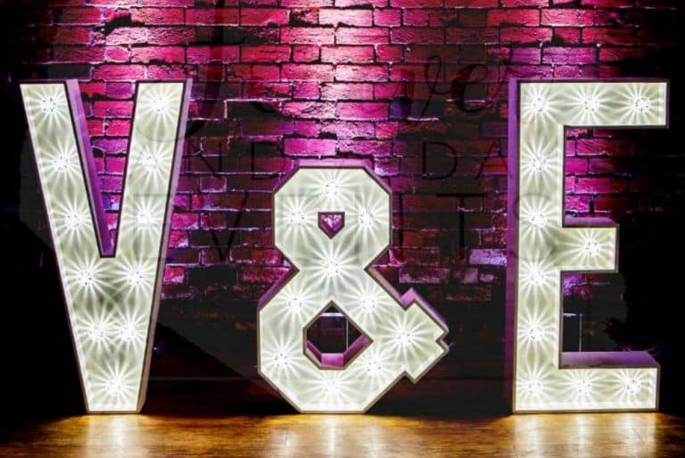Large light up letters and initials hire
