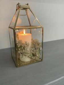 Gold lanterns with candle