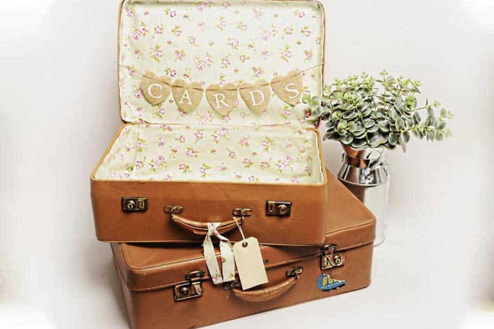 Wedding vintage suitcases