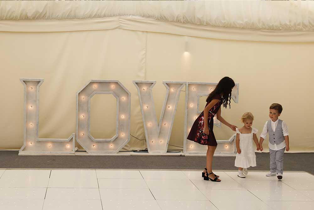 Large LED light up love letters