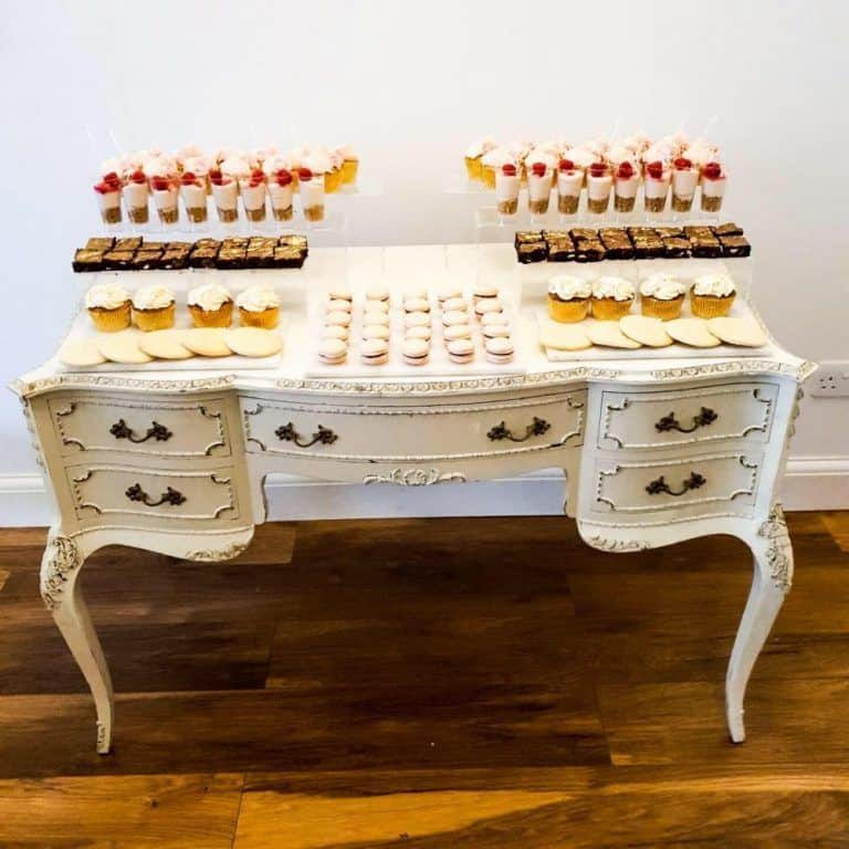 antique dessert table