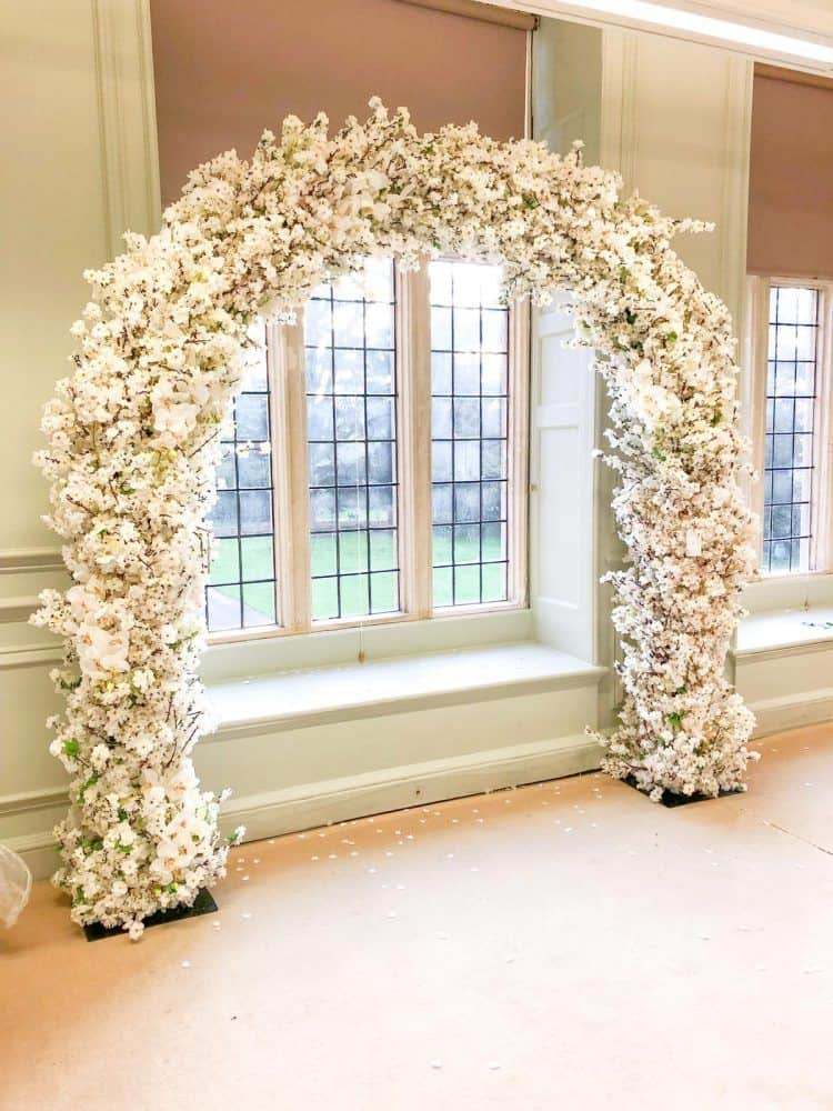 Ivory blossom arch
