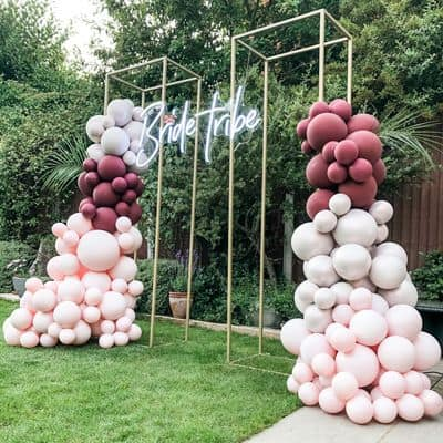 gold balloon backdrop frames