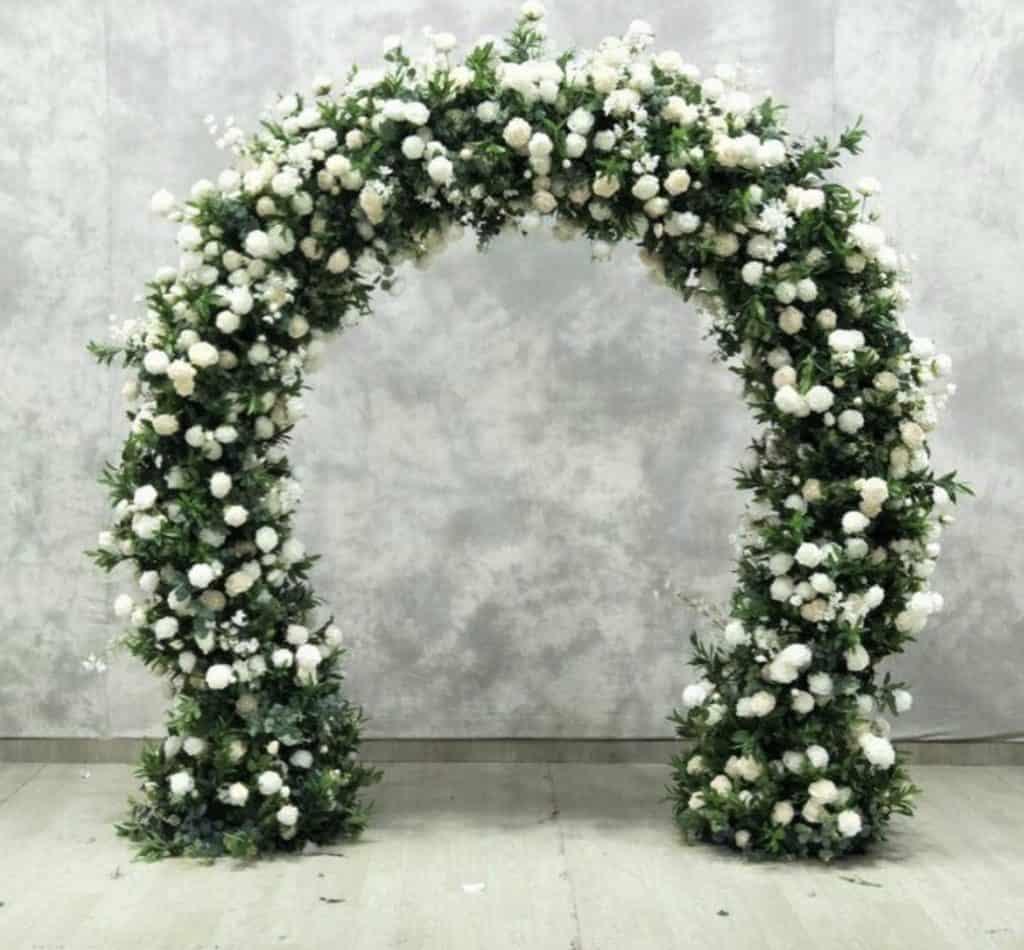 foliage wedding arch